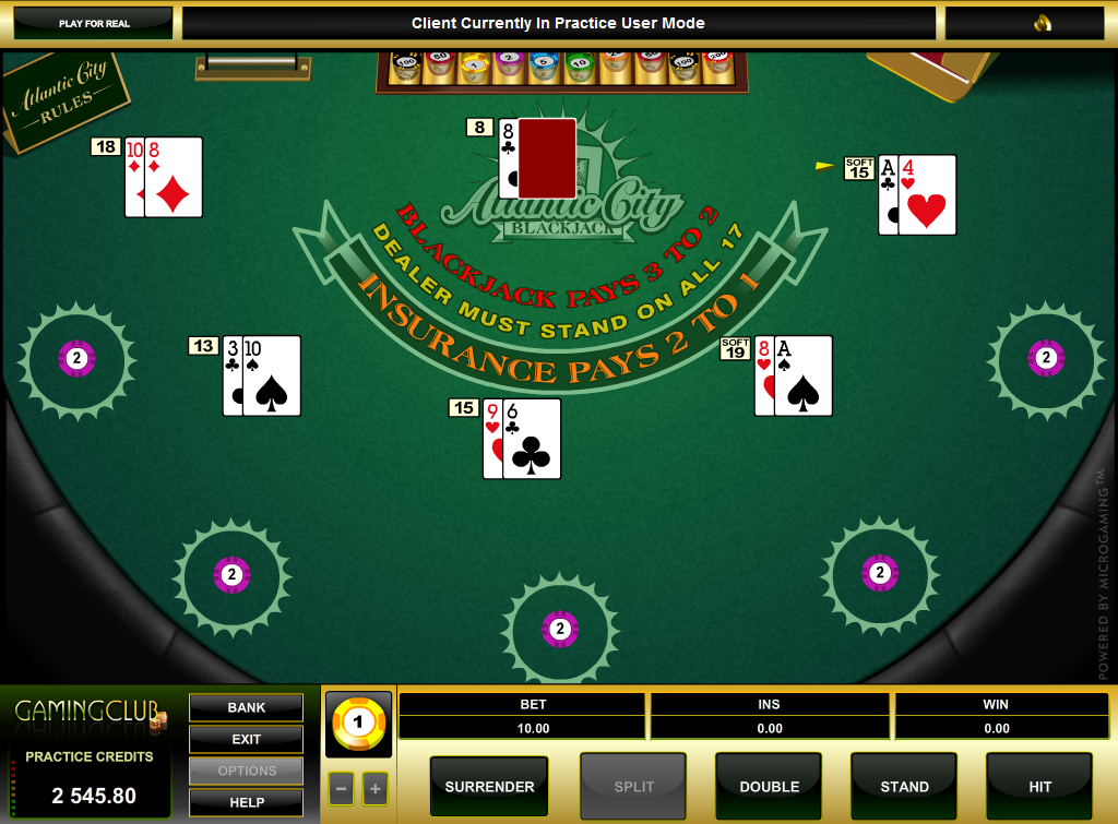 blackjack trainer online casino