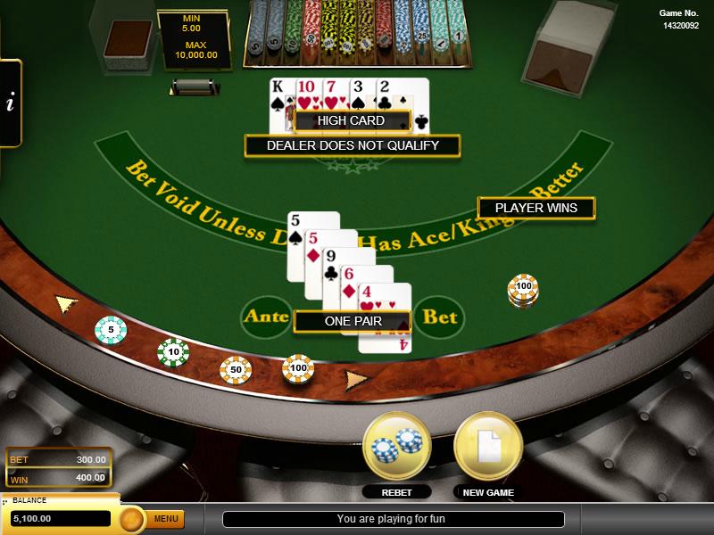 caesars online casino caribbean stud