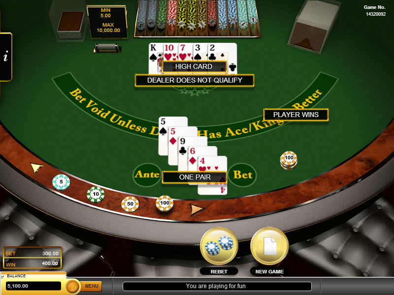 online casino tipps caribbean stud