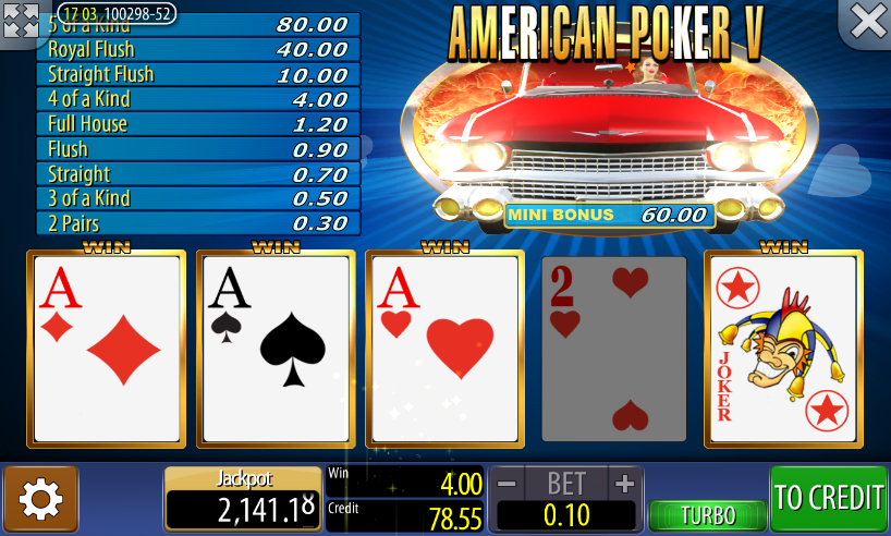 onlin casino american poker