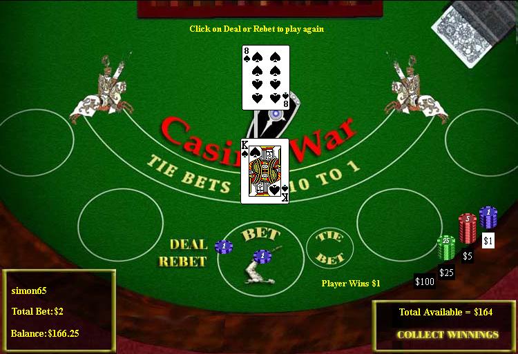 War casino game odds japanease gambling machines