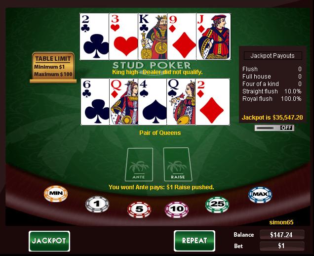 slots online gambling caribbean stud