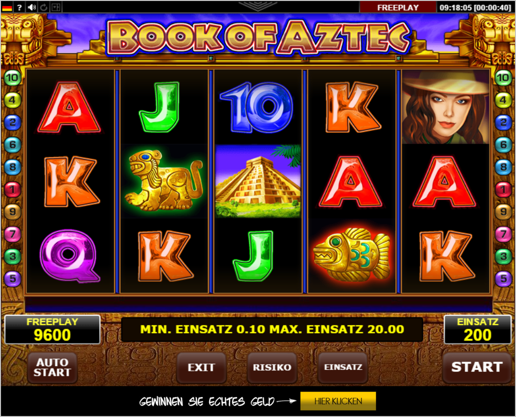 Book Of Aztec Slots - Free Online Casino Game by Amatic