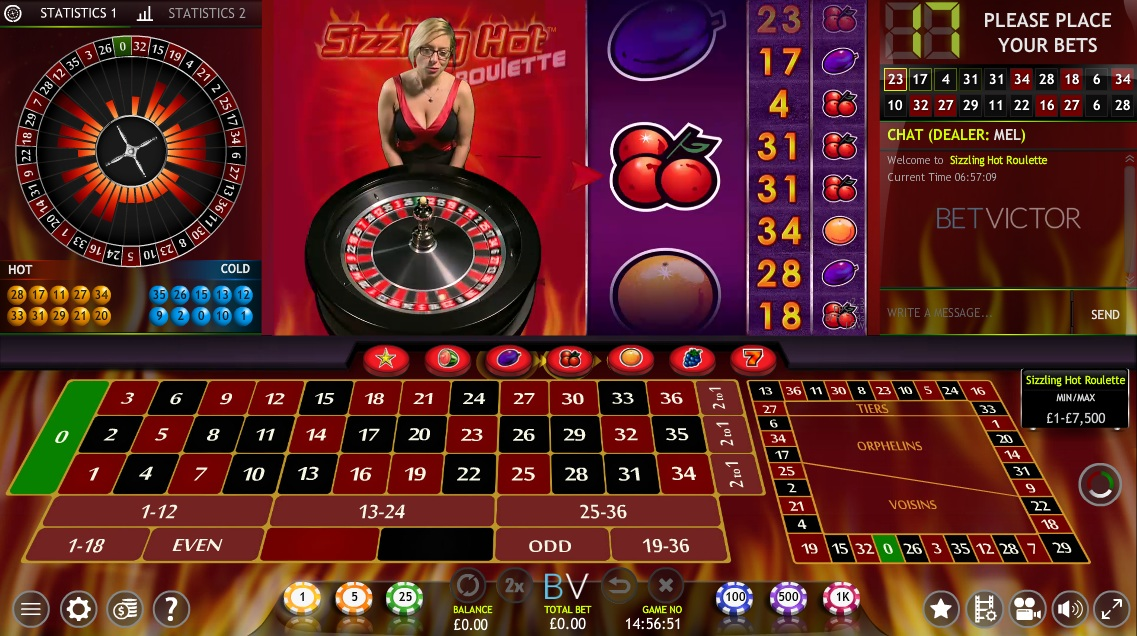 online casino roulette sizzling hot free play